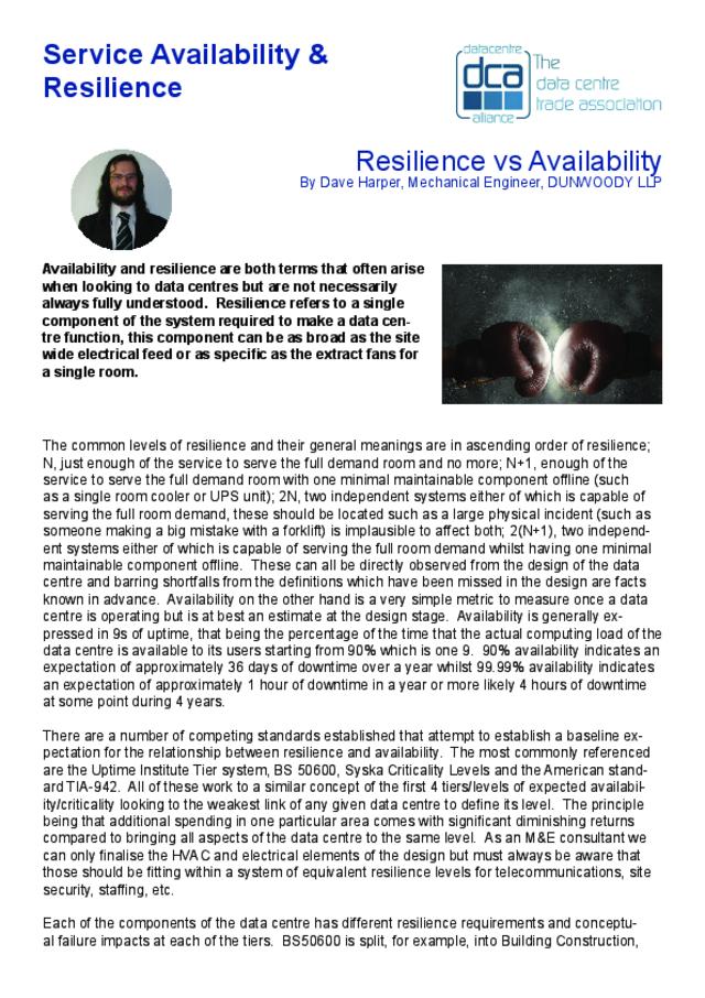 DCSFeb18_ResilienceVAvailabiliy pdf : DCA Global (Data