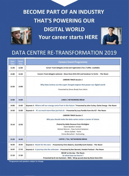 DATA CENTRE re-TRANSFORMATION CAREERS PROGRAMME